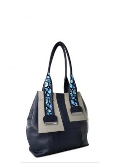 safari blue shoulder handbag