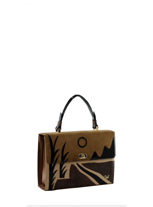 sunset brown handbag