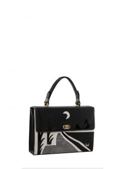 tote handbags: black sunset