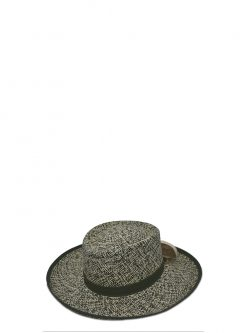 womens straw hats - green gambler