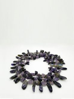 designers jewelry: amethyst necklace