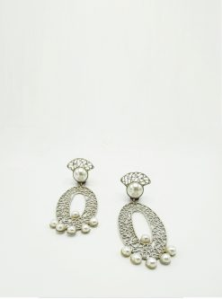 designers jewelry: Dora sterling silver earrings
