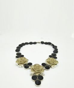 Elina onyx necklace