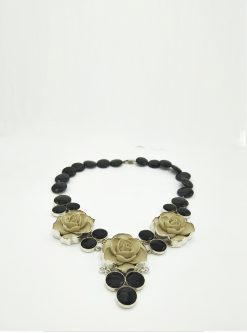 designers jewelry: onyx necklace