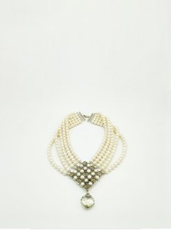 designers jewelry: smoky nereid necklace