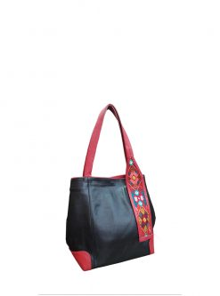 Designer handbag black leather Inspira