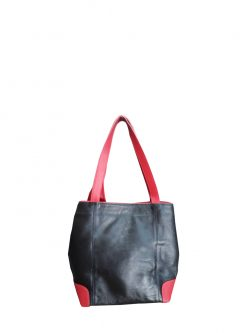 Black Leather designer handbag Inspira back