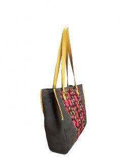 Life Suede Leather Shoulder Bag