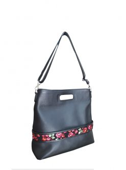 bags store: Caprice black leather bag