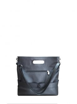 Caprice Black Leather Bag view 5