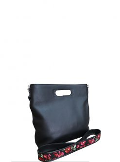 Caprice Black Leather Bag view 4