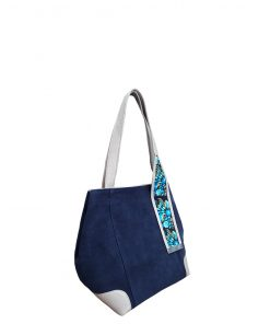 inspira oxford blue handbag