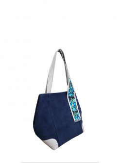 bags store: oxford blue shouler handbag