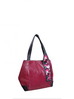bags store: red berry versa shoulder handbag
