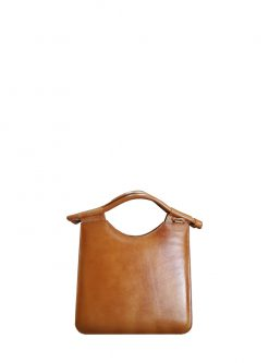 Toffee Leather Tote back