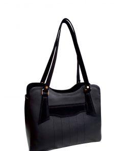 Black Tullip Handbag