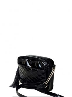 Black Glossy Crossbody Handbags