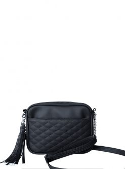 Lit black crossbody handbags