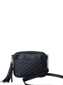 Lit black crossbody handbags