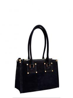 black pansy nubuck handbags