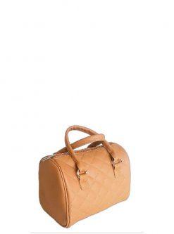 beige barrel handbag