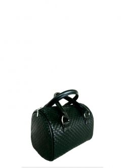 black barrel handbag