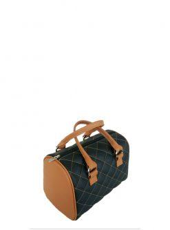black brown barrel handbag