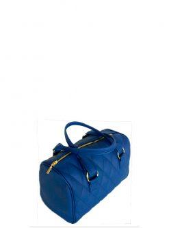 blue barrel handbag