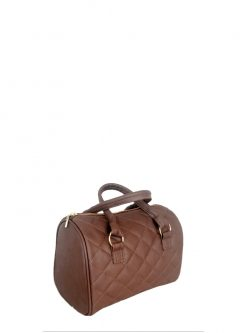brown barrel handbag
