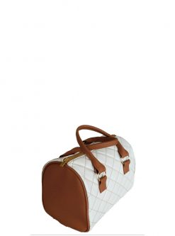 white barrel bag